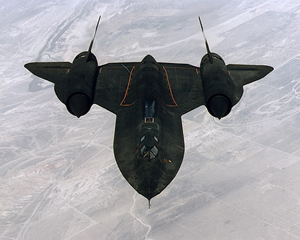 SR-71 Blackbird in Flight View from Above Photo Print