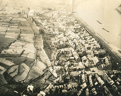 St. Goar in Germany Aerial View WWI Photo Print