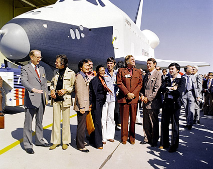 Star Trek Cast Space Shuttle Enterprise Photo Print