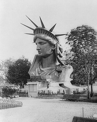 Statue of Liberty Head in a Paris Park 1883 Photo Print