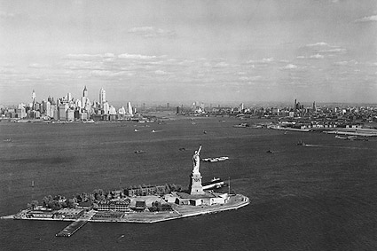 Statue of Liberty New York Harbor 1930s Photo Print