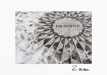 """Strawberry Fields """"Imagine,"""" Central Park Individual Holiday Cards"""