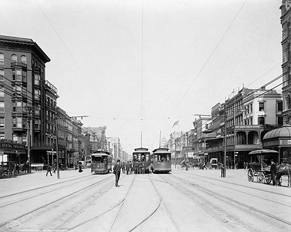 Streetcars on Canal Street New Orleans Louisiana 1907 Photo Print