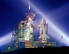STS-1 Space Shuttle Columbia on Launch Pad Photo Print for Sale