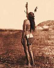 Sun Dancer Sioux Indian by Edward S. Curtis Photo Print for Sale
