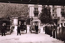 Swiss Hotel Resort Zermatt Switzerland 1954 Photo Print for Sale