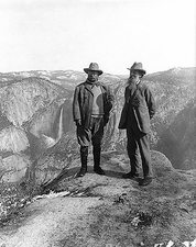 Teddy Roosevelt and John Muir Yosemite 1906 Photo Print