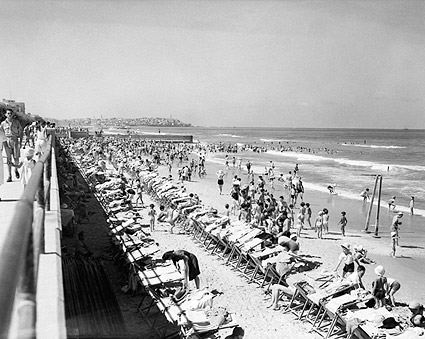 Tel Aviv Israel 1940s Bathing Beach Photo Print