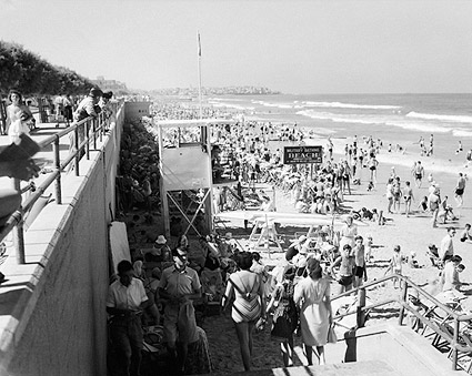 Tel Aviv Israel Bathing Beach 1940s Photo Print