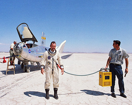 Test Pilot Bill Dana w/ HL-10 Photo Print