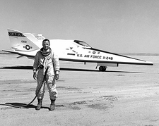 Test Pilot Bill Dana w/ X-24B / X-24 Photo Print