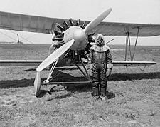 Test Pilot with Wright XF3W Apache Biplane 1928 Photo Print for Sale