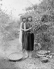 Tewa Girls Fruit Gatherers Edward S. Curtis Photo Print for Sale
