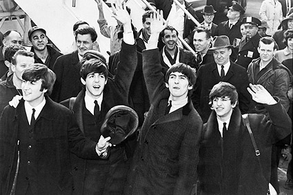 The Beatles Arrive at JFK Airport 1964 Photo Print