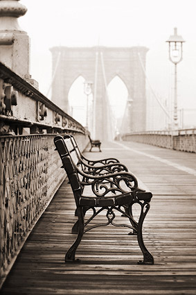 The Brooklyn Bridge 'The Resting Place' Photo Print
