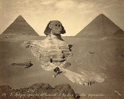 The Great Sphinx Unearthed Egypt 1867 Photo Print