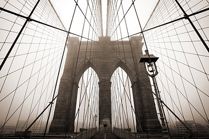 The Majestically Gothic Brooklyn Bridge Photo Print