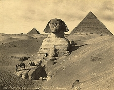 The Sphinx & Two Pyramids Egypt 1867 Photo Print