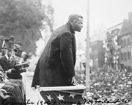 Theodore Roosevelt Making Speech w/ Crowd Photo Print