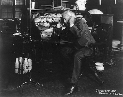 Thomas Edison Dictating Machine Photo Print