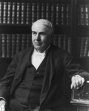 Thomas Edison Half Length Seated Portrait Photo Print