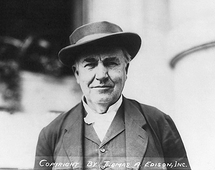 Thomas Edison Head and Shoulders Photo Print