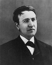 Thomas Edison Head and Shoulders Portrait Photo Print for Sale