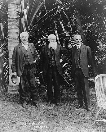 Thomas Edison, John Burroughs & Henry Ford Photo Print