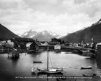 Three Sisters Mountains in Sitka, Alaska Photo Print