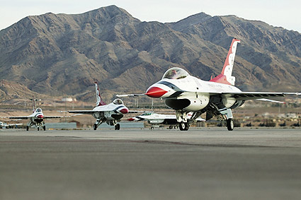 Thunderbirds F-16 Fighting Falcons Taxiing Photo Print