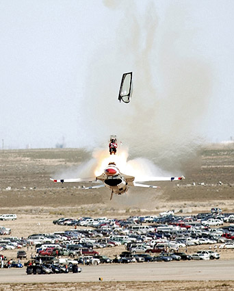 Thunderbirds F-16 Pilot Ejection Photo Print