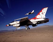 Thunderbirds F-16 Variable Speed Pass Photo Print for Sale