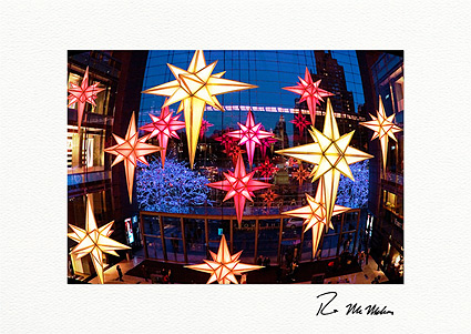 time warner center christmas lights nyc personalized holiday cards - Custom Holiday Cards For Business