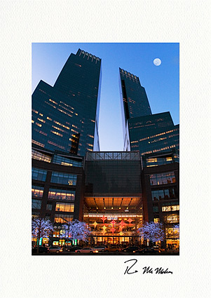 Time Warner Center Lights New York City Personalized Christmas Cards