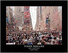 "Times Square ""Broadway on Broadway"" Ticker Tape New York City Mini Poster Print For Sale"