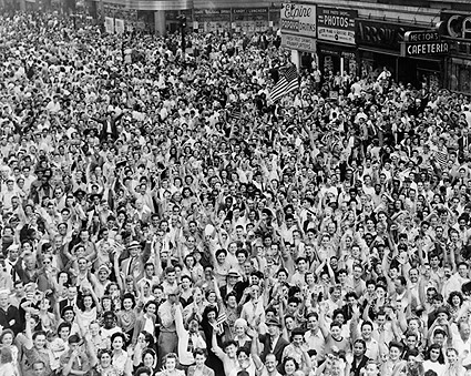 Times Square Crowd V-J Day New York City 1945 Photo Print
