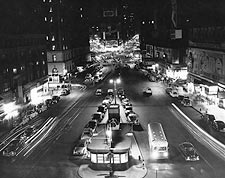 Times Square during Brownout, New York 1950 Photo Print for Sale