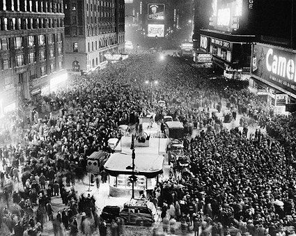 Times Square New Years Eve 1949 in NYC Photo Print