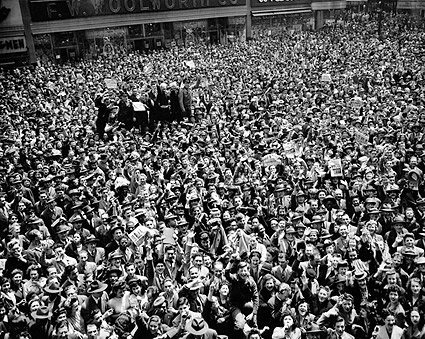 Times Square NYC Victory Day Celebration 1945 WWII Photo Print