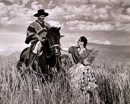 Toni Frissell Chilean Couple in Wheatfield Photo Print