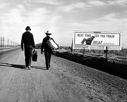 Toward Los Angeles, Dorothea Lange FSA Photo Print