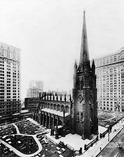 Trinity Church w/ Graveyard New York City Photo Print for Sale