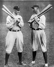 Ty Cobb & Shoeless Joe Jackson Baseball Photo Print