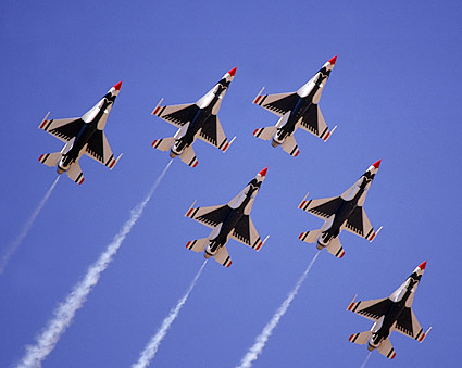 U.S. Air Force Thunderbirds Formation Photo Print
