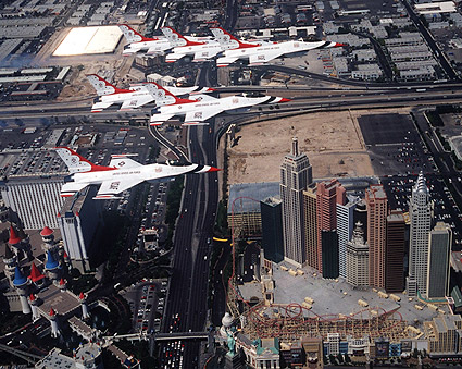 U.S. Air Force Thunderbirds Las Vegas Photo Print