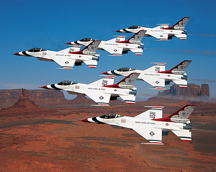U.S. Air Force Thunderbirds Monument Valley Photo Print