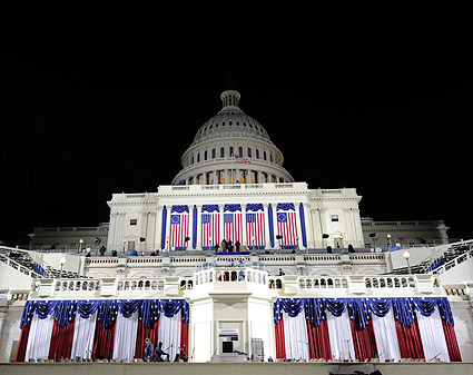U.S. Capitol Decorated for Barack Obama Inauguration 2009 Photo Print