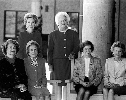 U.S. First Ladies Portrait at Reagan Library 1991 Photo Print