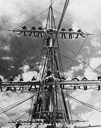 U.S. Marines on Mast of Training Ship 'Joseph Conrad' 1935 Photo Print