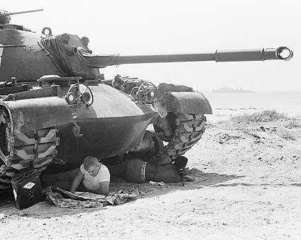 U.S. Marines Seek Shade Under Tank Beirut Photo Print